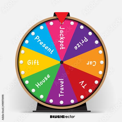 Carta da parati fortune wheel eight segmentation