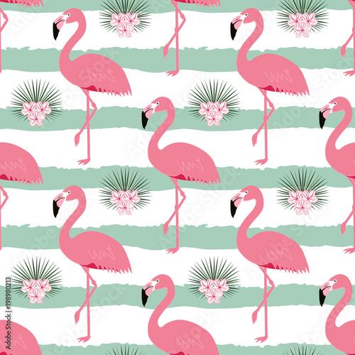 wzor-z-paskami-i-flamingami