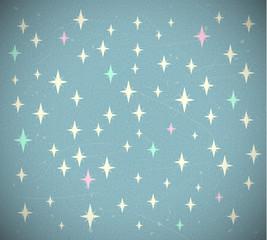 Retro starry background