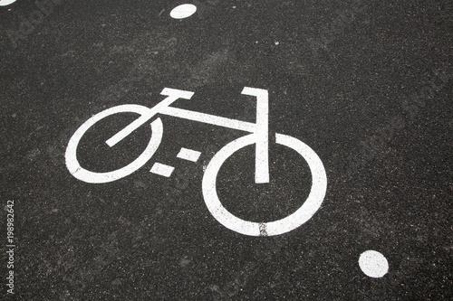 Bike Lane Symbol Buy This Stock Photo And Explore Similar Images