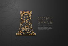 Chess Rook Wireframe Polygon G...