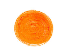 Orange Abstract Circle Stroke.