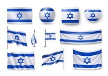 Set Israel Flags, Banners, Ban...
