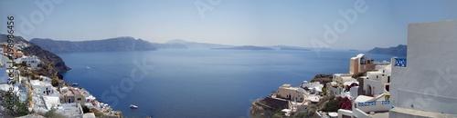 Panorama of Santorini island. Greece.