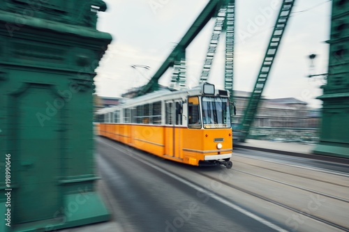 Juliste  Tram in motion