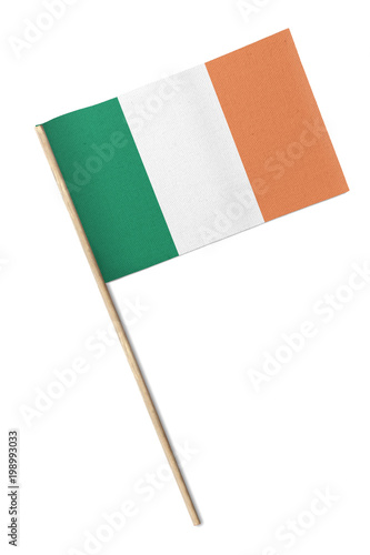 Ireland Small flag isolated on a white background