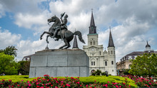 St. Louis Cathedral And A Stat...
