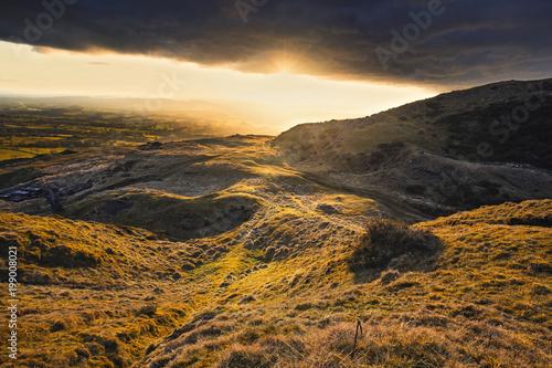 Dramatic Sunset over British Countryside
