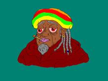 Comix Style Smoky Rastafari On...