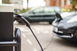 Electric Vehicle charging on street, in UK