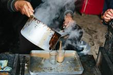 Masala Tea In Iron Pan, Steam,...
