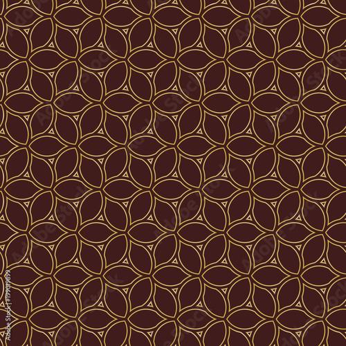 Fototapety, obrazy: Seamless golden ornament. Modern background. Geometric modern pattern