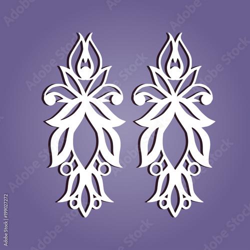 set of vector jewelry laser cut ornamental pendant template buy