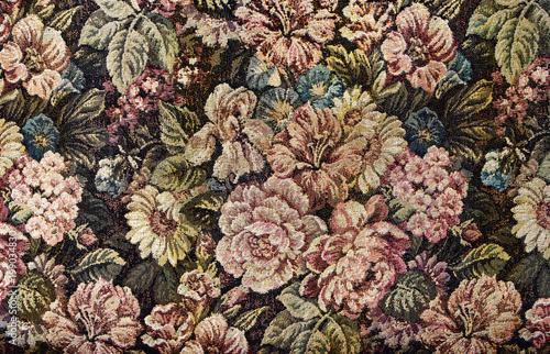 Pattern of an ornate floral tapestry Fototapeta
