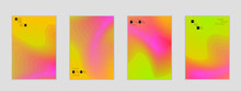 Template With Fluid Gradient Shape With Transparent Blend