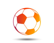 Football Ball Sign Icon. Socce...