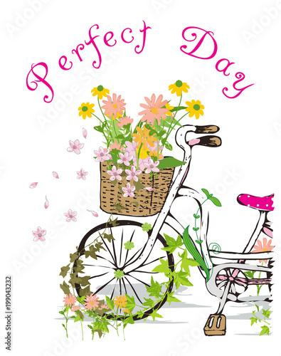Foto op Canvas Vogels in kooien Kids girl bike