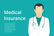Medical Insurance Green Backgr...