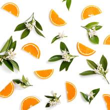 Orange Fruit And Flovers, Abov...