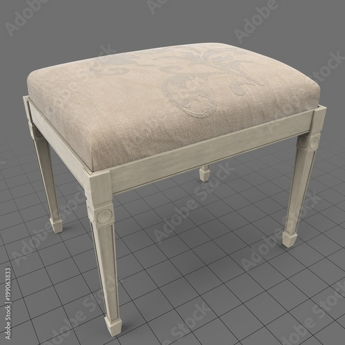 Classic bench with filigree pattern  Buy this stock 3d asset