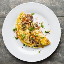 Omelett Mit Pilzen - Omelette ...