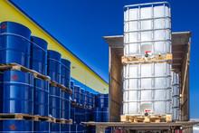 Discharge Of Plastic Barrels. ...