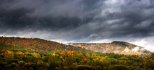 Panorama Of A Vermont Hillside...
