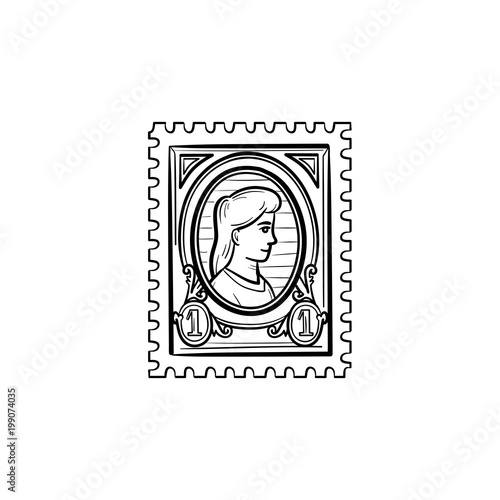 Philately hand drawn outline doodle icon Fototapet