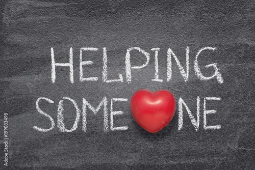Fotografía  helping someone heart