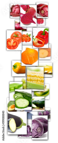 Staande foto Verse groenten Vegetable Mix Rectangles