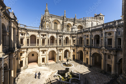 Tuinposter Monument Convent of Christ. Tomar, Portugal. Renaissance Cloister of John III and Manueline style church. World Heritage Site since 1983
