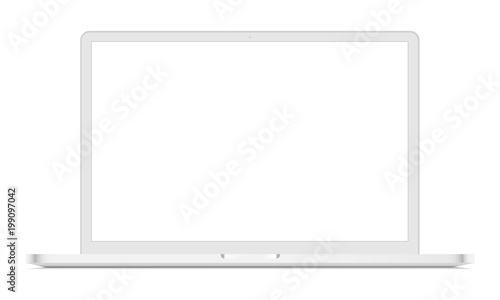 white laptop mockup front view vector illustration buy this