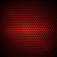 Red Dotted Metal Background De...