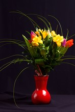 Two Tulips In Bouquet