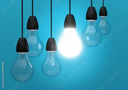 ampoule idée lumière innovation Canvas Print