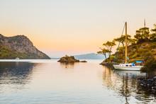 Boat In Aegean Sea. Bodrum Mug...