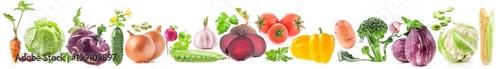Papiers peints Légumes frais Collections of vegetables