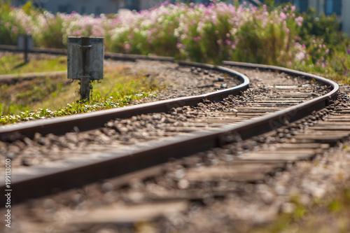 Foto op Aluminium Spoorlijn ローカル鉄道と線路