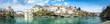 canvas print picture - Panoramic view of city of Mostar, Bosnia and Herzegovina.