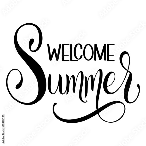 Welcome Summer lettering Fototapet