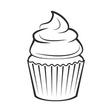 Cupcake.  Illustration Isolate...