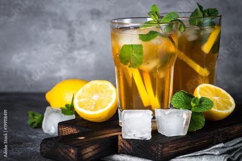 Láminas  Iced tea. Cold summer drink.