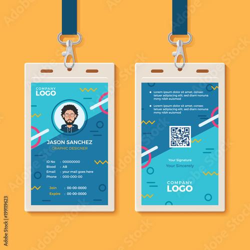 Modern Creative Id Card Template Kaufen Sie Diese Vektorgrafik Und