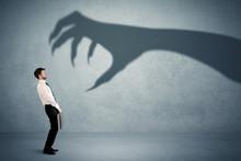 Business Person Afraid Of A Bi...