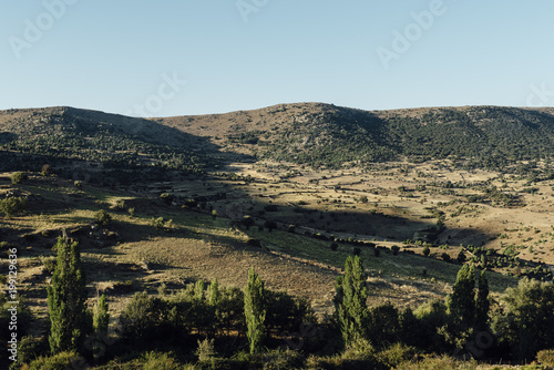 Deurstickers Landschappen Rural landscape at sunset in Avila, Spain