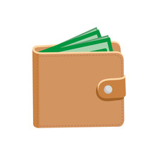 Wallet. Leather Wallet And Dol...