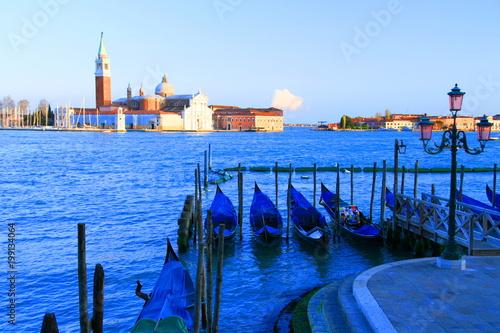 Tuinposter Gondolas Gondolas in Venice