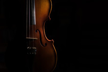Violin On A Black Background L...