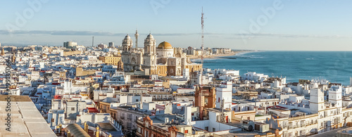 Cadiz cityscape with famous Cathedral, Andalusia, Spain