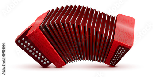 Fotografía Russian and French accordion national musical instrument